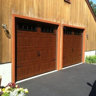 Garaga doors in American Walnut