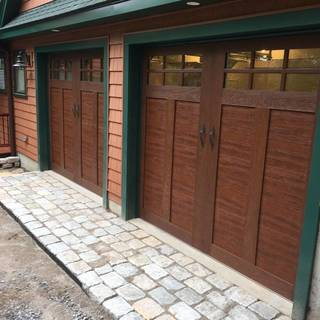 Steel Doors with Wood Grain Look